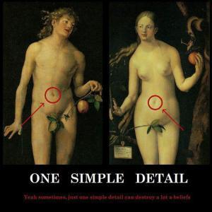 Adam en Eva hebben een navel!